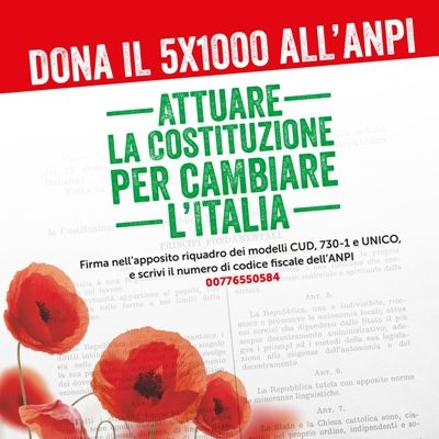 Dona il 5X1000 all'ANPI